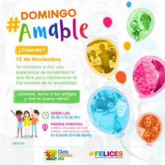 Sé parte de un #DomingoAmable!