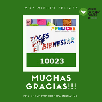 Muchas gracias por los más de 10000 votos en los World Happiness Awards!!!