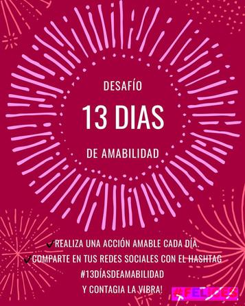 Sé parte del desafío #13DíasdeAmabilidad!