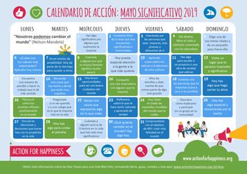 Calendario de Buenas Acciones! Mayo 2019