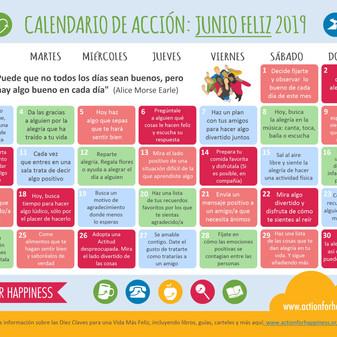 Calendario de Acciones Felices Mes de Junio!