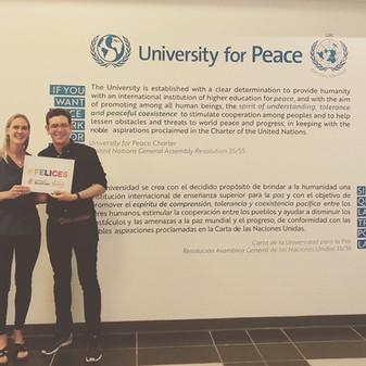 #Felices visita la University for Peace y suscribe su apoyo a nuestro Movimiento.