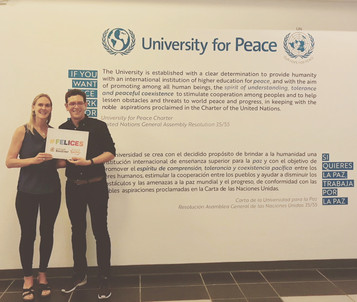 #Felices visita la University for Peace y suscribe su apoyo a nuestro Movimiento.