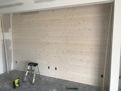 Shiplap Wall with cut outs
