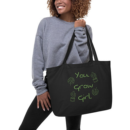 You Grow Girl Large Organic Tote Bag