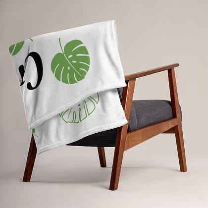 Crazy Plant Lady Monstera Throw Blanket