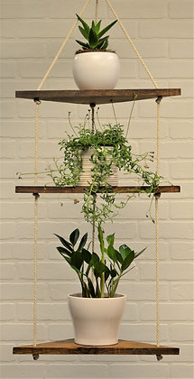 Hanging Corner Plant Shelf