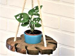 Monstera Leaf Hanging Plant Shelf