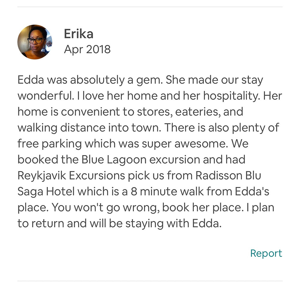 My Airbnb review for my accommodations in Reykjavik, Iceland