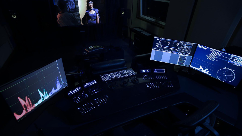 Filmlight Baselight colouring suite at Post City