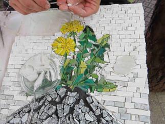 Vom Entwurf zum modernen, zeitgenössischen Mosaik