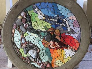 'Zauber des Natursteinmosaiks' – unser Workshop hat im November erneut stattgefunden