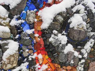 'Zauber des Natursteinmosaiks' - Unser Workshop findet in winterlicher Idylle statt