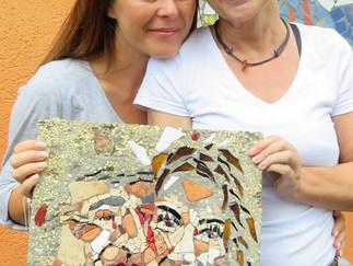 Portraitskizze in Naturstein und Betonguss im Umkehrverfahren