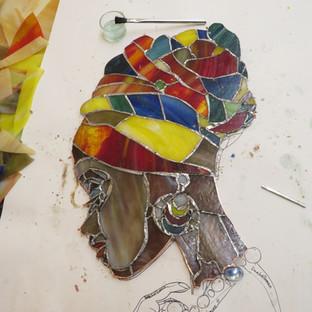 Erstellung einer freien Glaskunst-Arbeit in Kupferfolientechnik – unser 4. Ausbildungsmodul