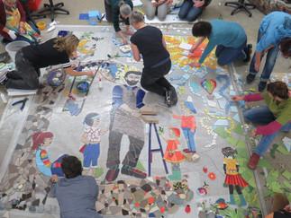 'Der heilige Josef erklärt den Kindern sein Handwerk'