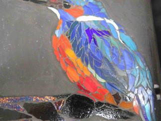 Unser 4. Ausbildungsmodul endet mit der Fertigstellung unserer Flachglasmosaike