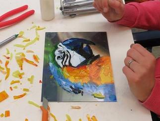 'Farbenvielfalt Glasmosaik' - in unserem Workshop enstehen faszinierende Flachglasmosaike