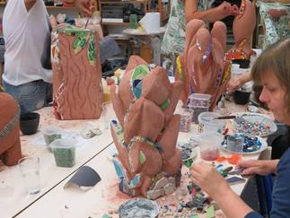 Mit dem Modul 'Plastisches Mosaik - Mosaikskulptur' schließen wir unseren 2. Studiengang ab