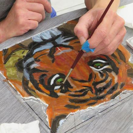 Malen mit Glas – Erstellung eines Flachglasmosaiks