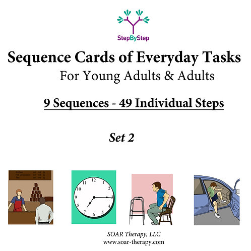 9 Sequences of Everyday Tasks for Young Adults and Adults (Set 2 of 3)