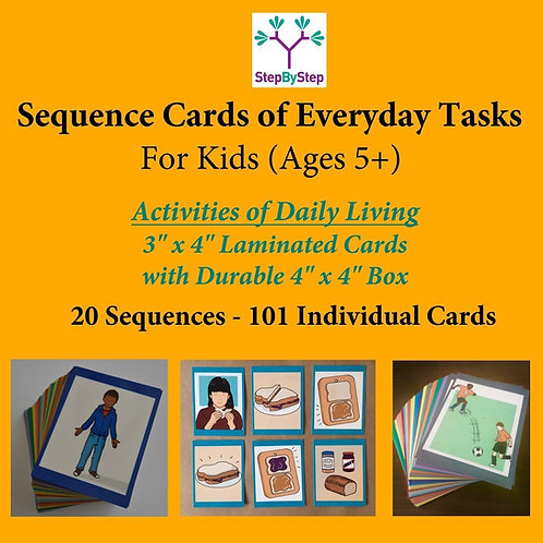 StepByStep - 20 Laminated Sequences for Kids/Young Adults
