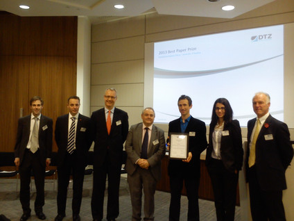 Best paper award by Cushman and Wakefield