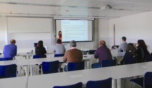 Stanimira Milcheva from the University of Reading giving a seminar presentation at the Universidad Loyola Andalucia