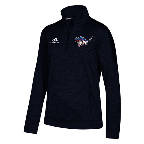 Patriot Adidas Ladies 1/4 Zip Pullover - Heatherd