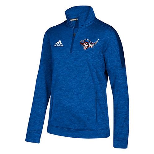 High School Patriot Adidas Ladies 1/4 Zip Pullover - Heatherd