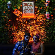 Day of the Dead - Grandeza's orange liqueur Activation Instagramable