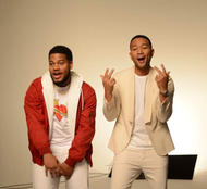 """John Legend & nephew Tay Da Prince video shoot for """"Love One Another"""" campaign"""