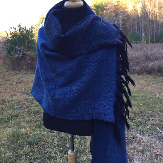 Merino shawl in the wild