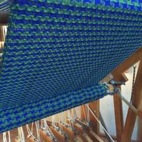 Custom 8 harness pinwheel houndstooth dishtowels