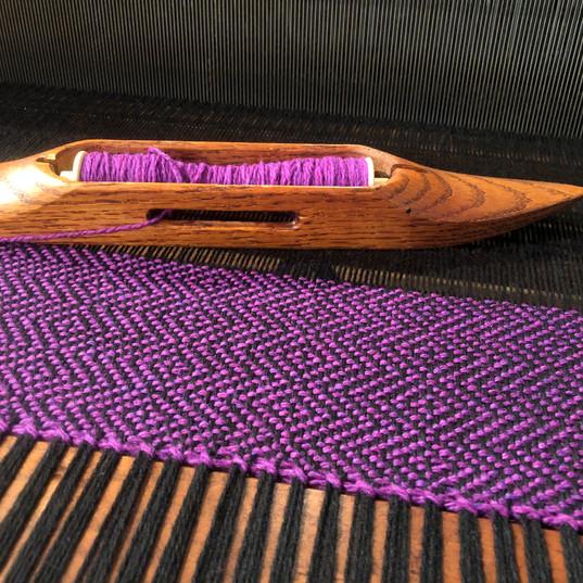 Merino wool shawls woven in a Diamond and Thunderbolt pattern from Birka