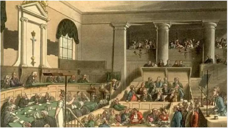 Representational Image of Court Room- Saverland vs. Newton case