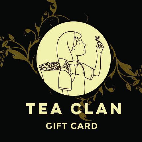 Tea Clan Gift Card
