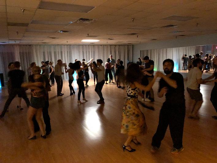 Friday night dance social at Smooth Sailing Ballroom