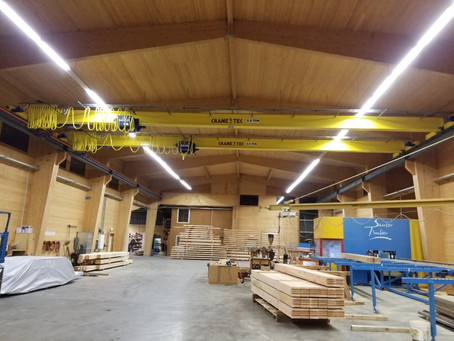 Wooden Building – Crane Installation