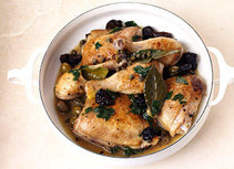Chicken with prunes and olives