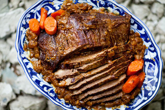 Roast brisket of beef