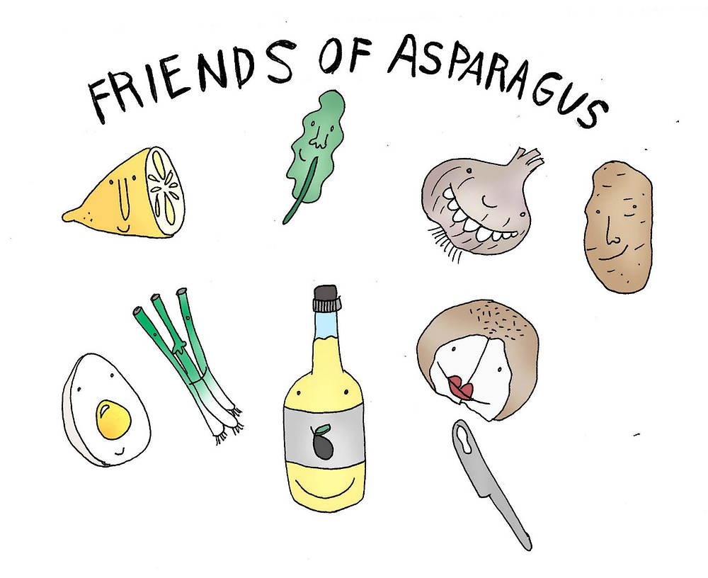 Friends and companions of asparagus
