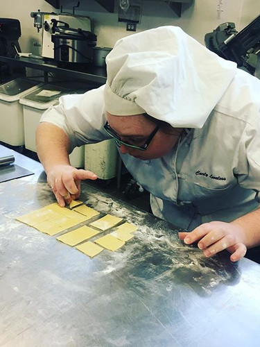 Focus needed to make ravioli #dvculinary