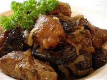 Beef and potato tzimmes with prunes