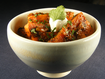 Cumin-glazed sweet potatoes