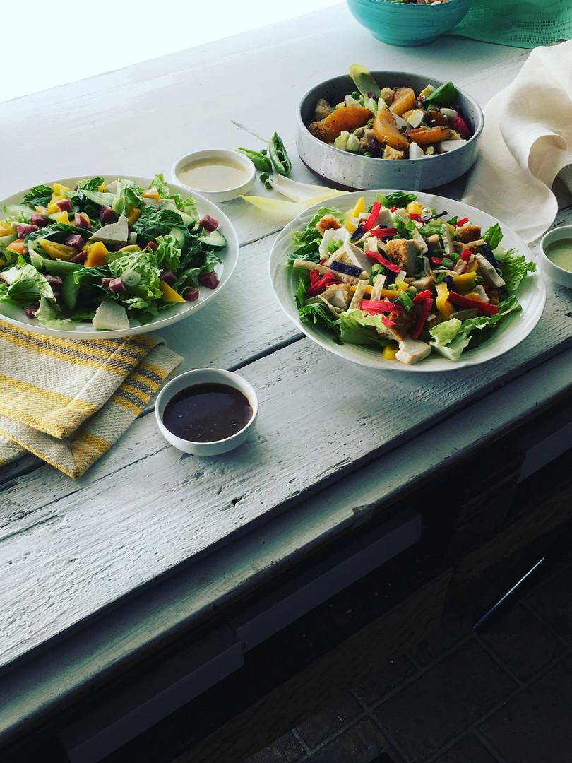 Photo Shoot Spring Salads