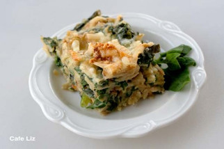 Matzo and spinach kugel