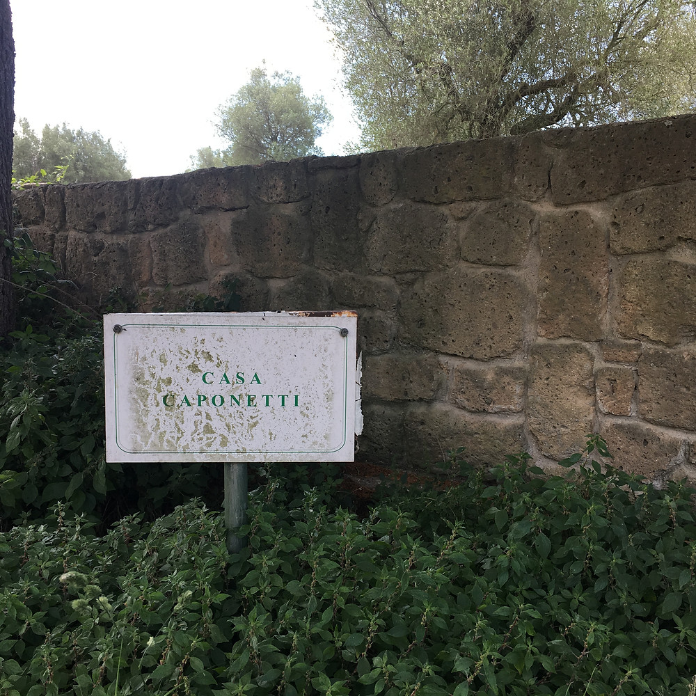 Sign announcing Casa Caponetti
