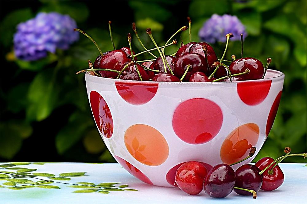 bowl of cherries for squab recipe