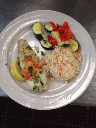Baked sole with basil and fresh tomatoes